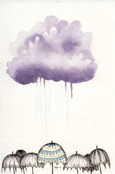 umbrellas 4x6 giclee print
