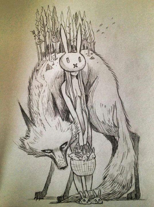 bunny girl and wolf