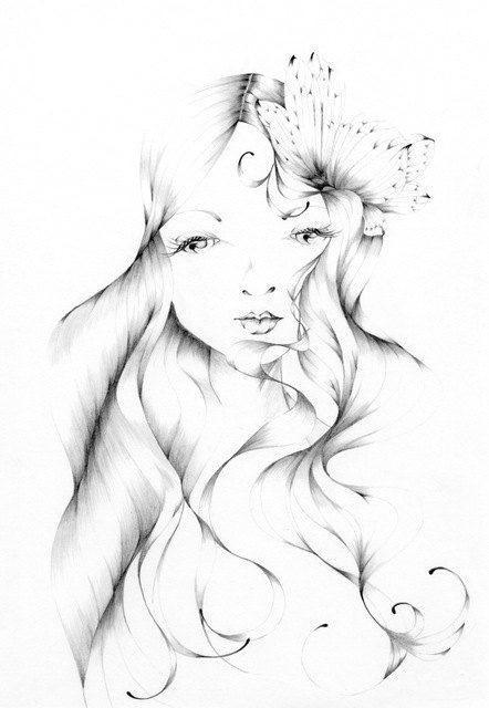 pencil drawing fantasy fine art giclee archival by abitofwhimsyart 30 00