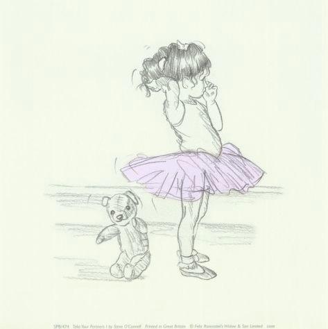 take your partners i art print by steve o connell at art com ballerina nurserygirl