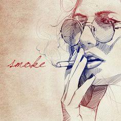 nat g inspirations mustafa soydan fashion illustrations mary jane furniture a blowing smoke