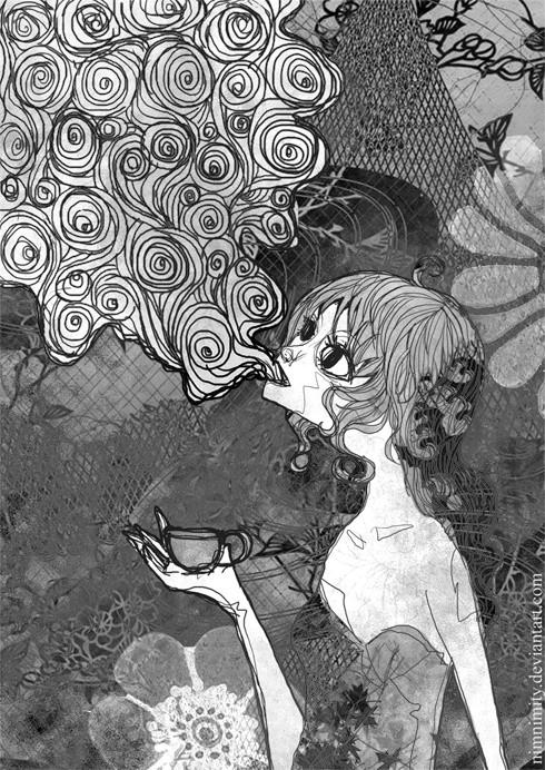 blowing smoke tumblr grunge pinterest drawings art and tea