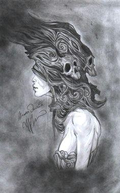 skulls and smoke drawings smoke skull by bring the