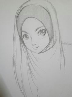 manga drawing hijab drawing doll drawing figure drawing muslimah anime pencil