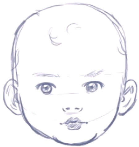 how to draw a baby s face head with step by step drawing instructions draw it drawings step by step drawing art drawings
