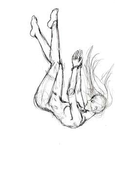 falling sketch