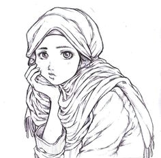 i m fine hijab cartoon muslim women muslim girls pencil drawings