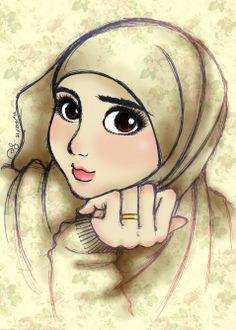 islamic art islamic cartoon hijab drawing anime muslimah hijab cartoon beautiful hijab stylish hijab muslim girls niqab
