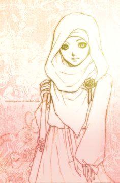 shawl hijab drawing drawing hair drawing tips drawing reference anime muslimah