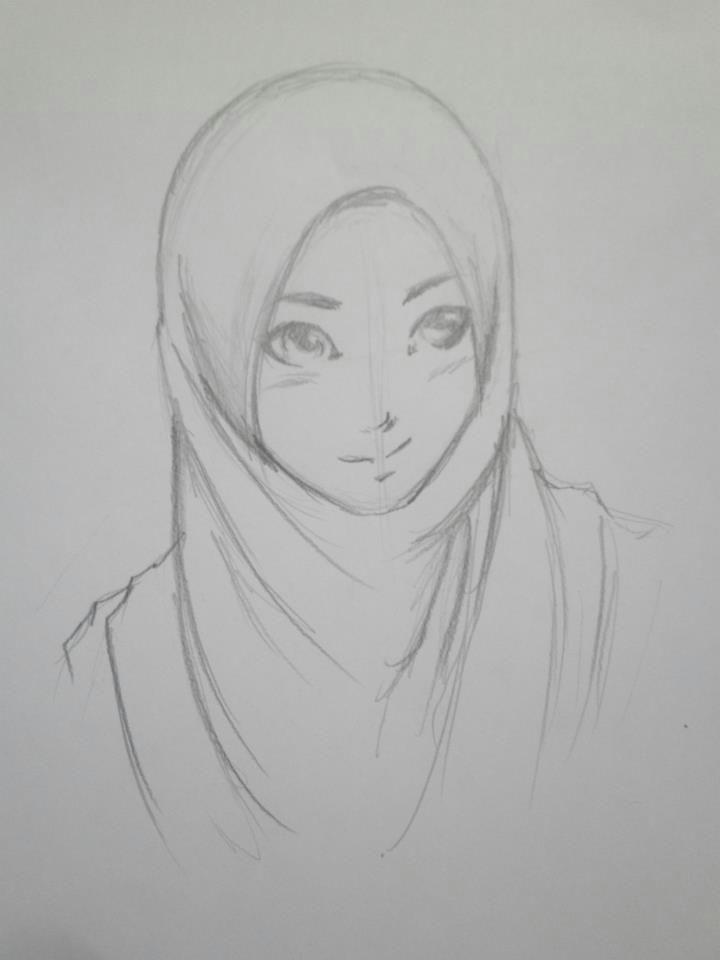 hijab drawing hijab style 1 by himawarinana on deviantart