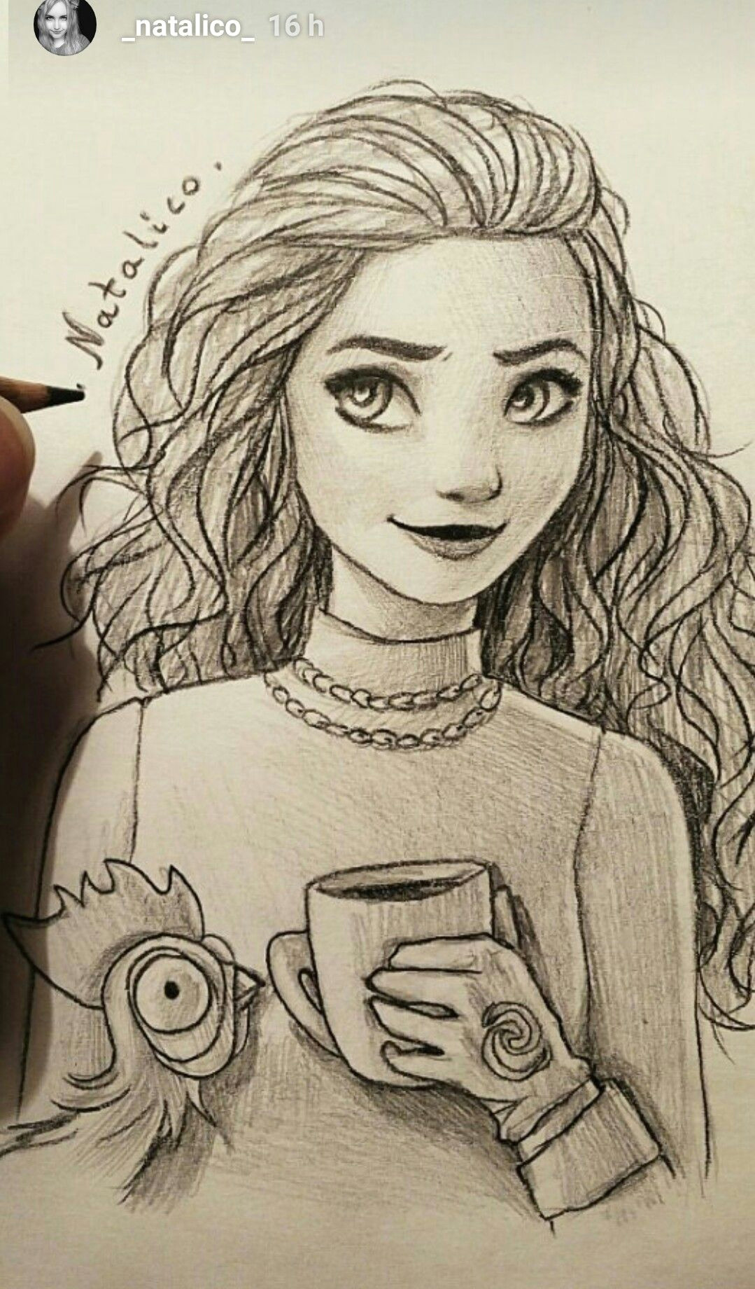 Drawing Of Girl In Love Moana by Natalico Ig Natalico In Love with This Draw