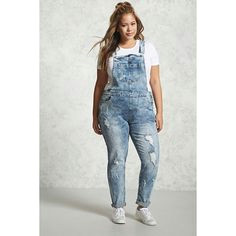 forever21 plus size acid washed overalls 38 a liked on polyvore featuring plus size