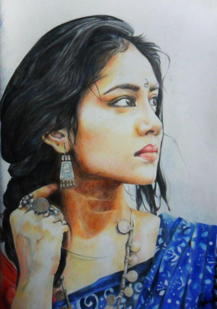 girl in blue saree by sufiaeasel deviantart com on deviantart