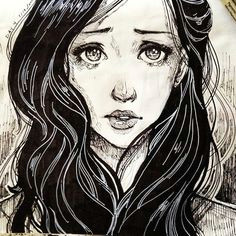 makana obie crying girl drawingdrawing