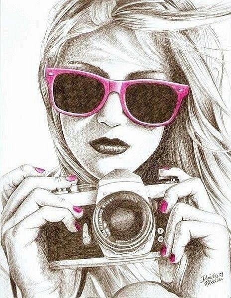 cute drawings of girls here s looking at