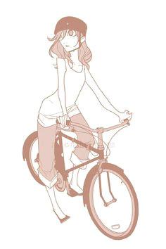 illustration sketches character illustration art sketches cartoon drawings art drawings bicycle drawing character concept character art