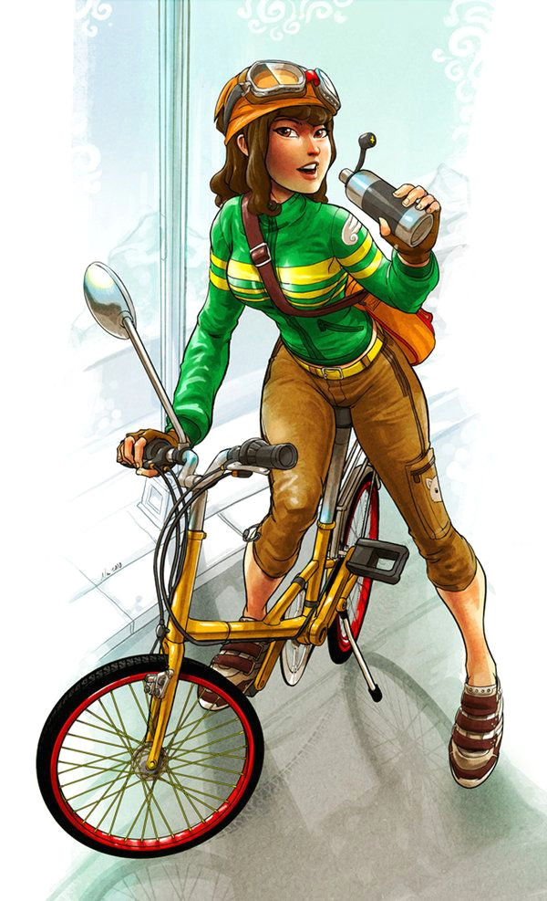commission sue by robotnicc on deviantart bicycle illustration illustration art bicycle art
