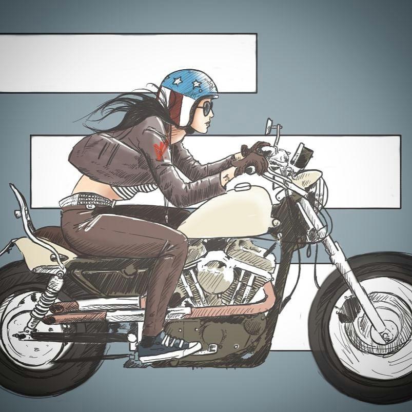 real motorcycle women starvin artist28 2