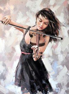 illustration by alexander gunin violin 2014