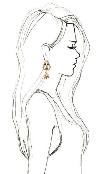 Drawing Of Girl Profile Pic Drawing Side Profile Girl Sketch Inspiration Drawings Art Art