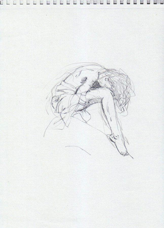 woman sitting nestled