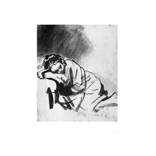 sleeping girl drawing british museum london giclee print wall art 36