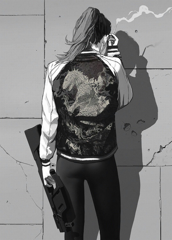 turn around illustration girl