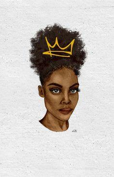 worry bout you crown serie black girl art black women art art