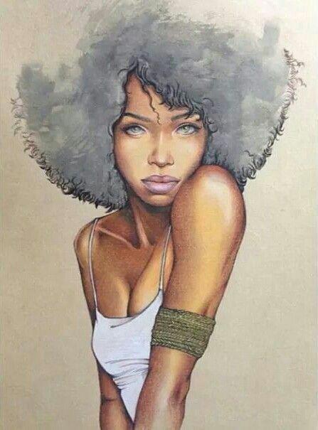 afro hair drawing afro hair art black girls drawing black girl art
