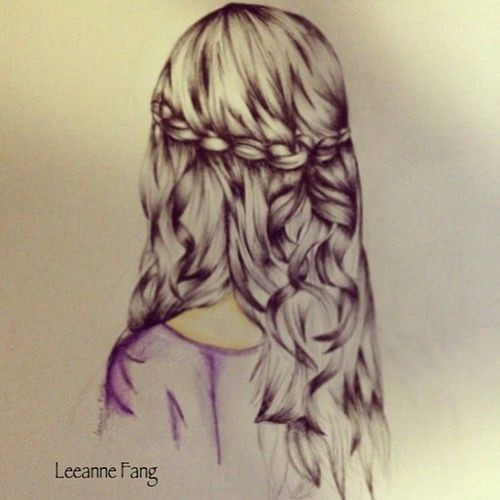 sketch of a girl s hair google search