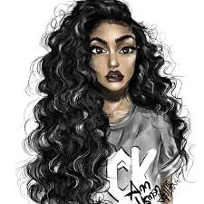 image result for curly hair drawing