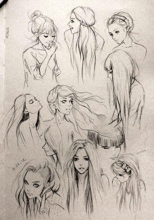 fantasy girl hair