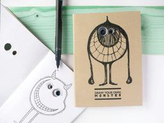 draw your own monster googly eyes notebook diy by mozui on etsy 12 00 notebook design