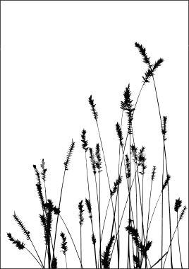 grass vector black silhuette royalty free stock vector art illustration molde para bordar floral vectores