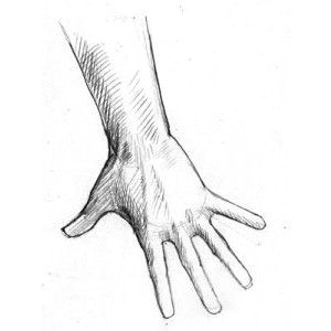 drawing hands the hand reaching down