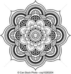 vectors of henna flower mandala vector designs henna mehndi flower csp8528263