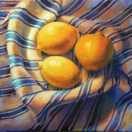 Drawing Of Kash Flower Lemoneighbors Diptych Right by Marie Kash Weltzheimer Oil On