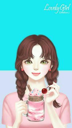 nor syafiqah korean illustration cute drawings girl drawings kawaii cute girl