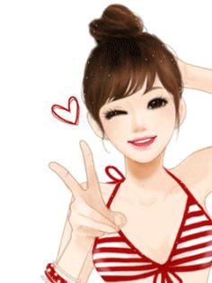peace jolies images illustration girl cute cartoon girl cartoon anime art