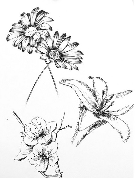 small flower tattoo cute fine line watercolor unique different girly cool idea