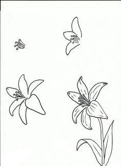art class ideas drawing a flower lilly flower drawing flower design drawing flower