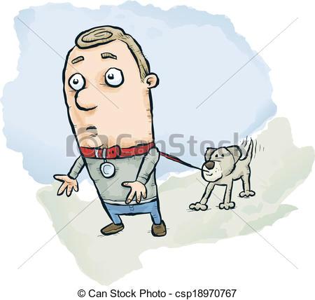 dog walks man csp18970767