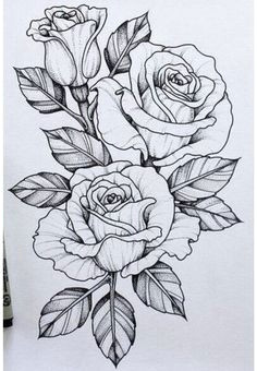 25 beautiful flower drawing ideas inspiration flowers drawn rose flowers rose sketch