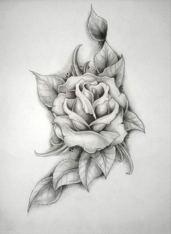 rose tattoo i want this on my shoulder with a red one and thorn stems around it