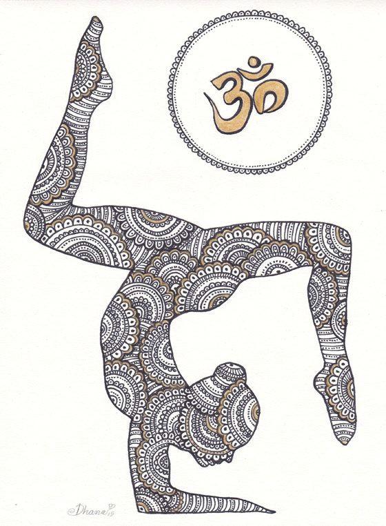 yoga asana instantanea digital descargar dibujo decoracia n