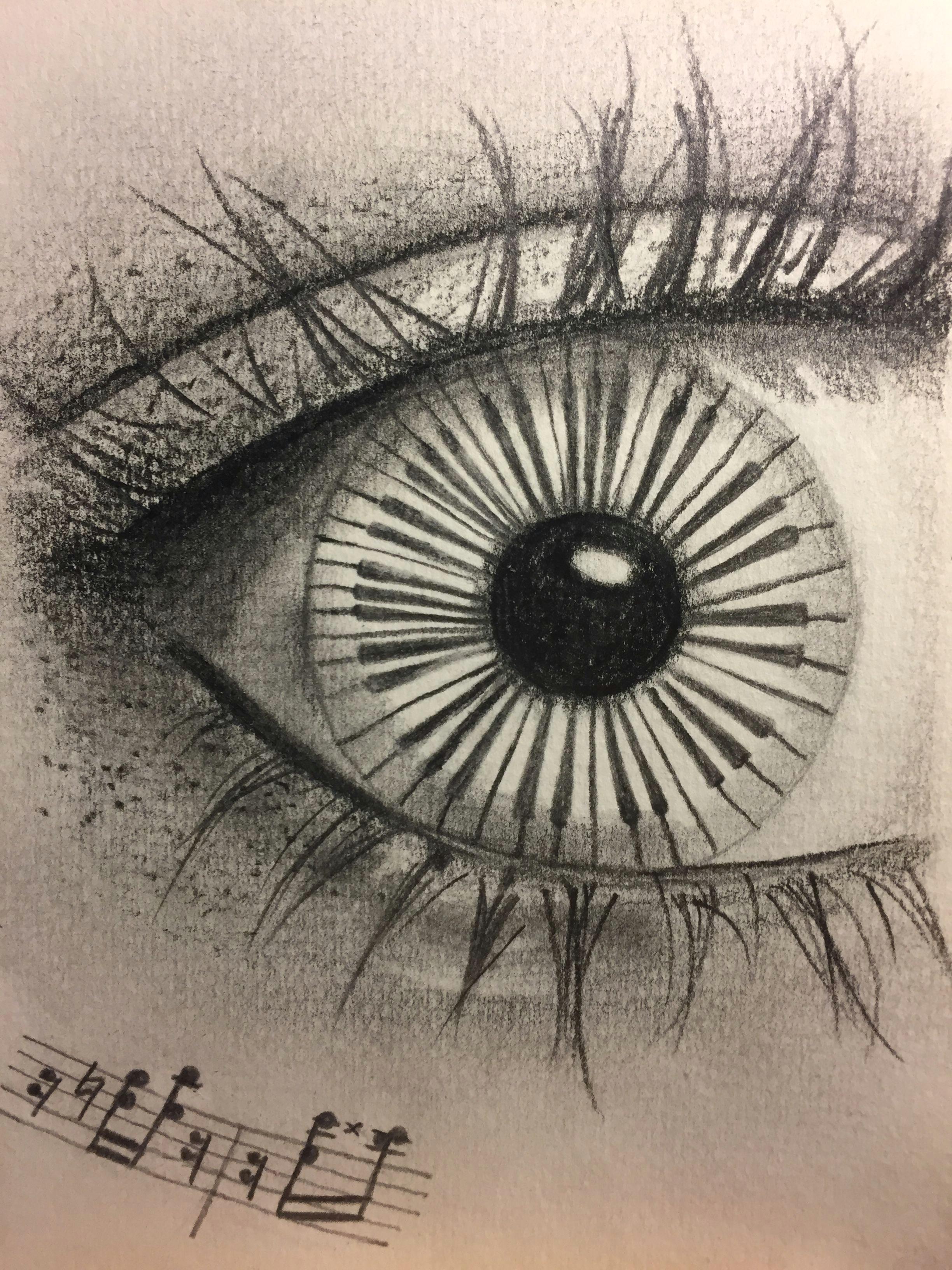 musical eye sketch