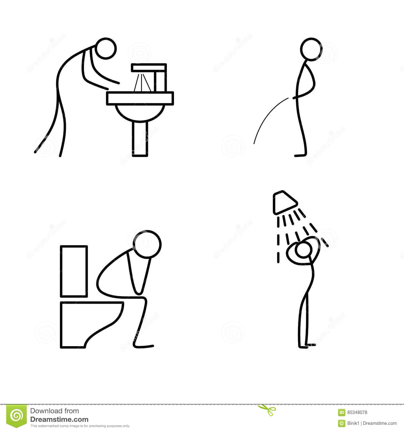cartoon icon of sketch stick figure doing life routine download from over 56 million high quality stock photos images vectors sign up for free today