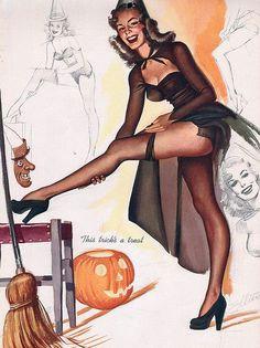 freeman elliott halloween pin upvintage halloweenvargas girlspin