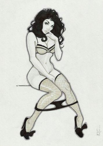 original art zatanna retro sexy sketch pin up ebay