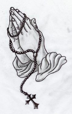 praying hands greywork